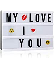 Light up Box, Cinematic Light Sign Box A5 Cinema Light up Board with 110 Letters for Festival, Wedding, Party, Birthday