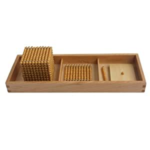Montessori Introduction to Decimal Quantity with Tray