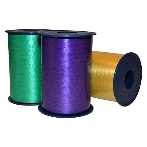 Morex Ribbon Polypropylene Mardi Gras Poly Curling Ribbon, 3/16-Inch by (Mardi Gras Table Arrangements)