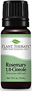 Plant Therapy Rosemary 1,8-Cineole Essential Oil 10 mL (⅓ oz) 100% Pure, Undiluted, Therapeutic Grade