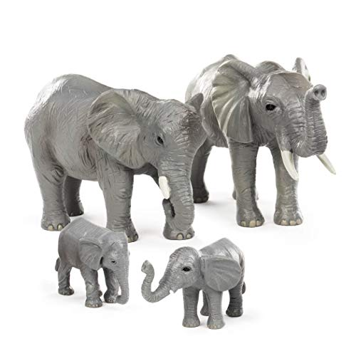 - Terra by Battat - African Elephant Family - Miniature Elephant Animal Toys for Kids 3-Years-Old & Up (4 Pc)