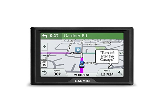 Garmin Drive 61 USA+CAN LMT-S GPS Navigator System with Lifetime Maps, Live Traffic and Live Parking, Driver Alerts, Direct Access, TripAdvisor and Foursquare data