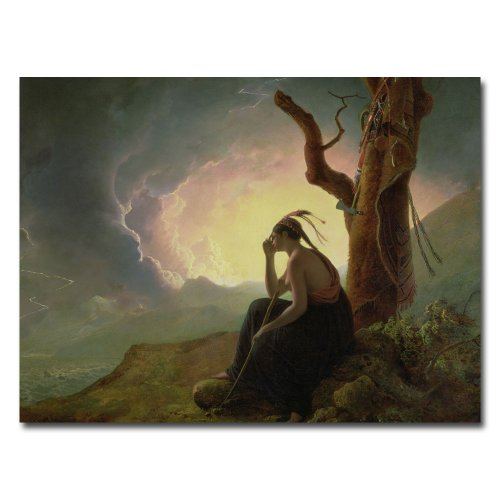 Widow of an Indian Chief by Joseph Wright of Derby, 35x47-Inch Canvas Wall Art