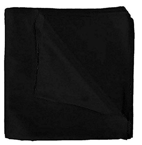 Cotton Bandana Black (One Dozen 12pcs Solid Black Bandanas 100% Cotton by M.H.I.)