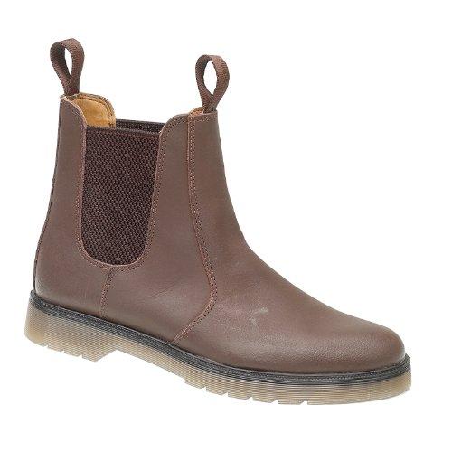 Amblers Mens Amblers Mens Chelmsford Pull On Leather Dealer Boot Marrone Pelle Marrone