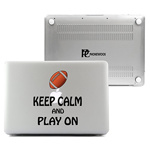 PhoneTatoos -Keep Calm And Play Football Clear/ Transparent Plastic Hard Case Cover for Macbook Air 13'' (Model: A1466, A1369) by PhoneTatoos