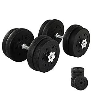Yaheetech 20KG Dumbbell Set Adjustable Bumbbell Weights Bar Home Gym Fitness Exercise