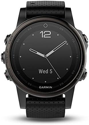 Garmin Fenix 5S Bluetooth Black Sport Watch–Sport reloj (Black, Polymer, Stainless Steel, Water resistant, silicona, 10ATM)