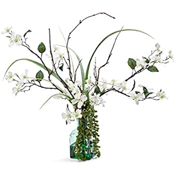 Amazon nearly natural 4687 dogwood silk flower arrangement silk dogwood blossoms arrangement mightylinksfo Image collections