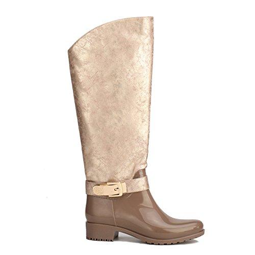 Alexis Leroy Wellies Cowboy - Botas de agua de caucho para mujer Marrón