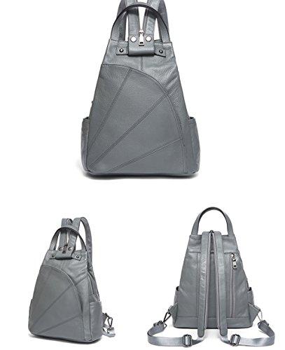 vera S D C e a casual tracolla morbida in donna borsa leggera pelle per Zaino moda semplice awX6qqZ