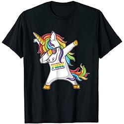 Pride LGBT Gay Be Lesbian Unicorn Dabbing Funny T Shirt
