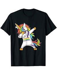 b833747e Pride LGBT Gay Be Lesbian Unicorn Dabbing Funny T Shirt