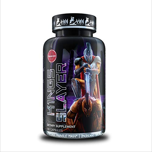 Kings Slayer Lean Body Mass and Muscle Building Supplement | Bulking and Weight Gaining Supplement with Enhanced Recovery for Natural Bodybuilding (180 Capsules)