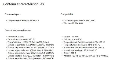 Corsair Force Series MP500 480GB M.2 NVMe PCIe Gen. 3 x4 SSD by Corsair (Image #2)