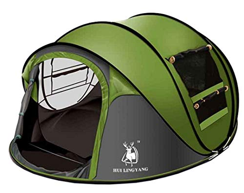 Ghlee Seconds Pop Up Quick Opening Camping Hiking Large Instant Tent for...
