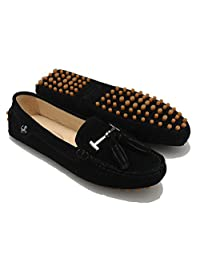Miyoopark Women's Casual Tassel Suede Leather Loafers Outdoor Indoor Flats Slippers