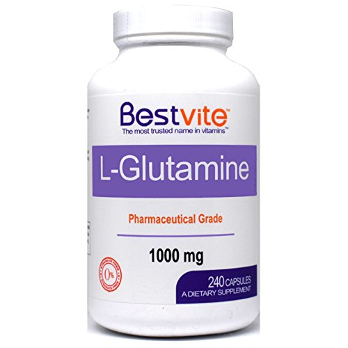 L-Glutamine 1000mg Free Form (240 Capsules) – No Stearates – No Fillers For Sale