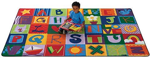(Carpets for Kids 3800 Printed Toddler Alphabet Blocks Kids Rug Rug Size: 6' x 9')