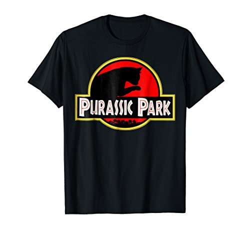 (Purrassic Park T Shirt | Funny Cat Lover T Shirt | Cat Gift)