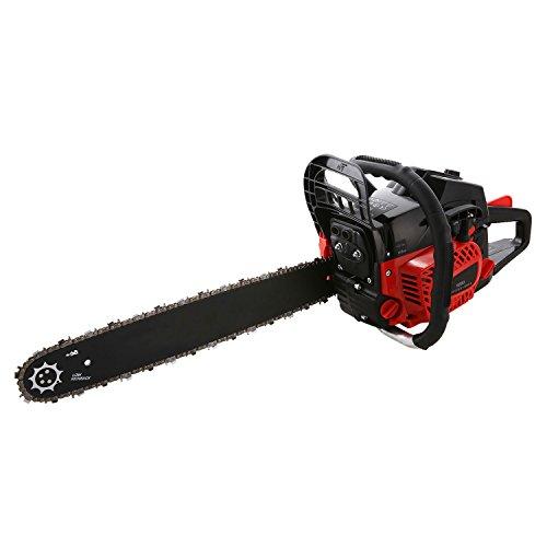 Rendio 58CC Chainsaw, 20-inch 3.5HP Power Chain Saw Gas Powered Chain Saw 2 Stroke Handed Petrol Chainsaw (52CC-R)