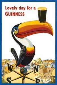 - Beyond The Wall Toucan Lovely Day for a Guinness Vintage Beer Alcohol Advertising Art Poster Print (11X14 UNFRAMED Print)