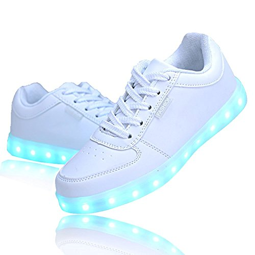 White Light Up Shoes Fashion LED Sneakers for Kids