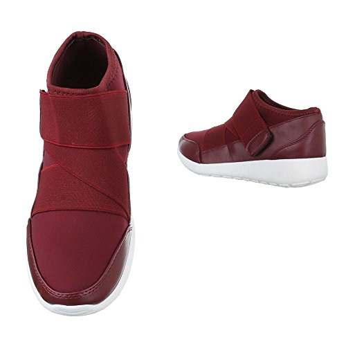 Ital-Design - Zapatillas altas Mujer borgoña