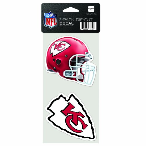 (NFL Kansas City Chiefs 2-Piece Die-Cut Decal, 4
