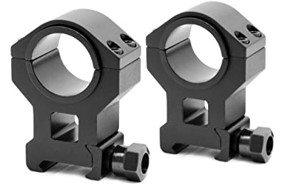 TMS AR15 Tactical High Scope Ring Set for Picatinny Rails QD