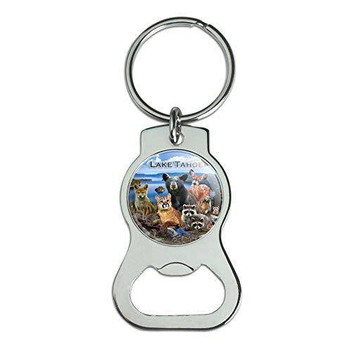 Cougars Bottle - Graphics and More Lake Tahoe California CA Nevada NV Animals Bear Cougar Deer Bottle Cap Opener Keychain Key Ring