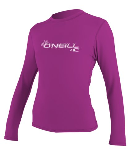 O'Neill Women's Basic Skins Upf 50+ Long Sleeve Sun Shirt, Fox Pink, Medium