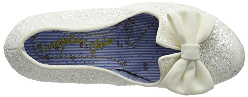 Irregular Choice Nick Of Time, Scarpe Col Tacco Donna Off-white (Cream Glitter)