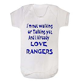 Danni Rose I'm not Walking or Talking Love Rangers Baby Vest Bodysuit boy Girl (0-3)