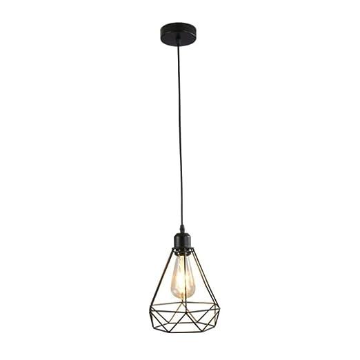 BLZZ Mini lámpara Colgante Vintage, candelabro de Canasta de Jaula ...