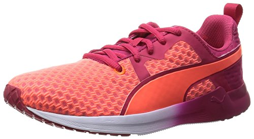 Puma Pulse XT Core, Damen Hallenschuhe Hallenschuhe, Orange(Fluo Peach/Rose Red/White), 40 EU