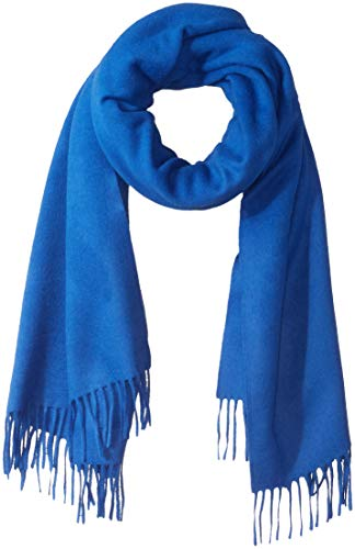 - J.Lindeberg Men's Classic Wool Scarf, pop blue, One Size