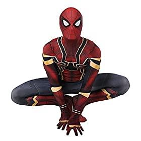 - 41lxu73b0qL - HBMaida Unisex Lycra Spandex Zentai Halloween Cosplay Costumes Adult/Kids 3D Style
