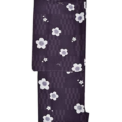ディスカウントピストル休憩和道楽着物屋 【単衣】仕立て上がり LUXE 洗える着物 単品【L寸】 単衣 洗える 着物 和服 和装 レディース 女性 kimono washable パープル 紫 花柄 桜 番号d424-4 レディース 着物 和装