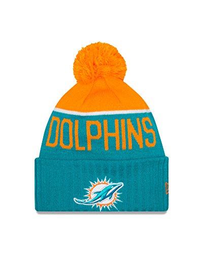 New Era Miami Dolphins 2015 Sport Knit Cuffed Pom Knit Cap/Beanie ()