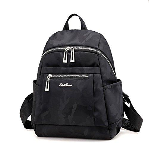 Hope Mini Waterproof Nylon Backpack Backpack Backpack Backpack School Bag For Women Girls, Camouflageblue-27 * 16 * 36cm Camouflageblack