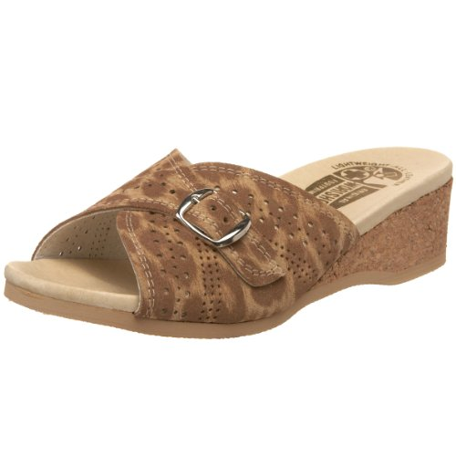 Worishofer Womens 251 Sandal Tan Leopard