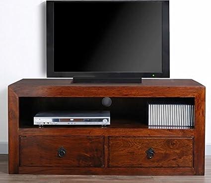 Ethnic Chic Mobile porta tv etnico con 2 cassetti in legno massello ...