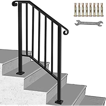 Amazon.com: DIY Iron X Handrail estaca N.° 2 para 2 o 3 ...