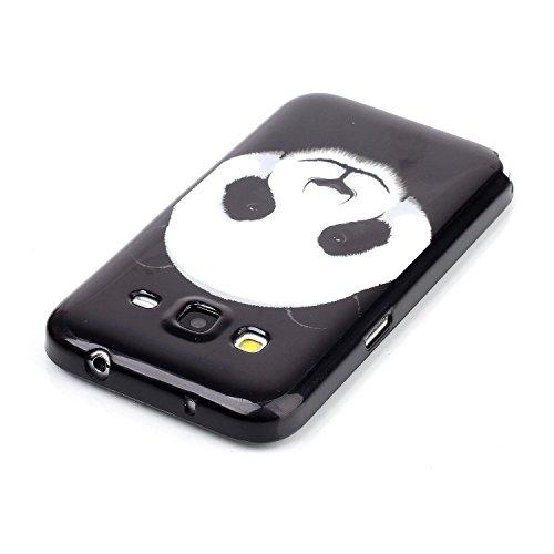 Funda para iPhone 5s, funda de Silicona transparente para iPhone 5s, iPhone 5 Silicona Funda Carcasa, iPhone 5 / 5s Silicone Slim Case Cover Skin Shell Carcasa Funda, Ukayfe caso de la cubierta de la  Giant Panda