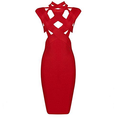 36 Kleid schwarz Rot HLBCBG schwarz Damen Z6Sxq4