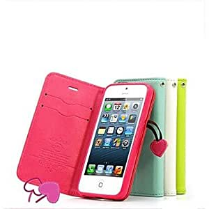 Mini - Fashion Series Artificial Leather Protective Case with Support Function for iPhone 5/5S , Color: Blue