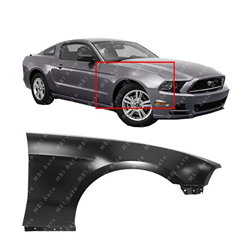 MBI AUTO - Painted to Match, Steel Passenger Side LH Front Fender for 2010-2014 Ford Mustang & Mustang GT 10-14, FO1241281
