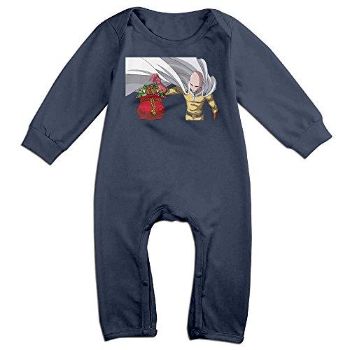Linus Van Pelt Halloween Costume (VanillaBubble Saitama And Christmas For 6-24 Months Newborn Funnies Romper Navy Size 18 Months)