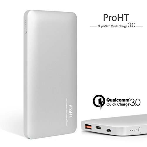 10000mAh Qualcomm 03245A Charger Silver ProHT product image